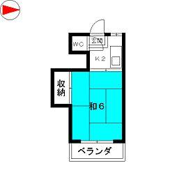 白蘭荘[2階]の間取り