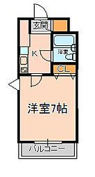 松戸ハイツ第二[103号室]の間取り