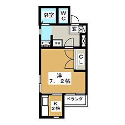 ヴィアルCity富沢[3階]の間取り