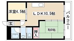 愛知県名古屋市瑞穂区彌富通5丁目の賃貸マンションの間取り