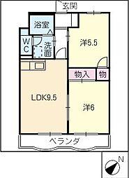 第2グリーンハイツ斉藤[3階]の間取り