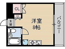 セピア茨木[5階]の間取り
