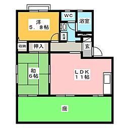 ル・レーヴ C棟[1階]の間取り