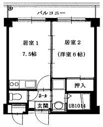 第7浦濱ビレッジ[1階]の間取り