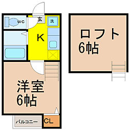 ミューザ松原町 (ミューザマツバラチョウ)[2階]の間取り
