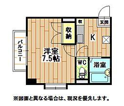福岡県北九州市小倉北区長浜町の賃貸マンションの間取り