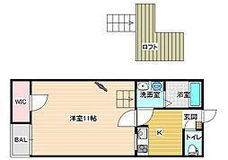 レオネクストハイツ西田[1階]の間取り