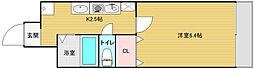 大阪府大阪市中央区宗右衛門町の賃貸マンションの間取り