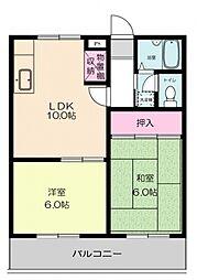 ウィスタリアマンション[304号室号室]の間取り