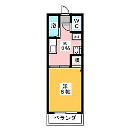 レトア桃の木C[1階]の間取り
