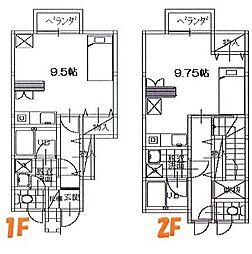 メゾンM[1D号室]の間取り