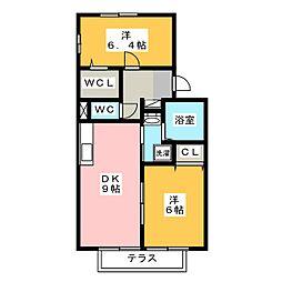 ウィルステージ[1階]の間取り