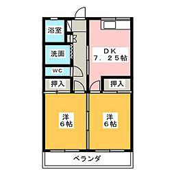 静岡県静岡市清水区草薙3丁目の賃貸マンションの間取り