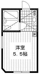 イルソーレ笹塚[202号室]の間取り