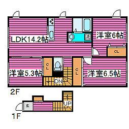 [タウンハウス] 北海道札幌市北区西茨戸一条1丁目 の賃貸【/】の間取り