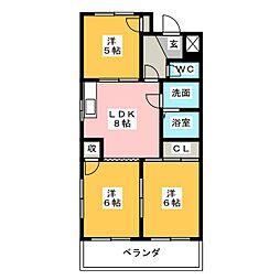 サンハイツKTB[1階]の間取り