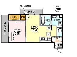 仮称)西野小柳町D-room[102号室号室]の間取り