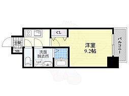 名古屋市営東山線 新栄町駅 徒歩8分の賃貸マンション 14階1Kの間取り