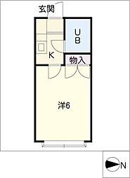 COSMO21前山[1階]の間取り