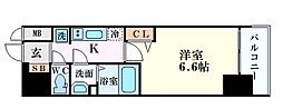 Osaka Metro中央線 阿波座駅 徒歩5分の賃貸マンション 3階1Kの間取り