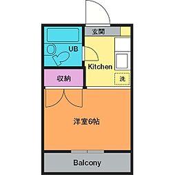 ガーデンハイツ飯山B[3階]の間取り