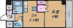 ローズコーポ天満東[9階]の間取り
