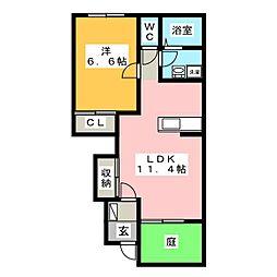 さくらハイム[1階]の間取り