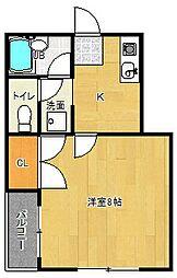 ペロピハウス[103号室]の間取り