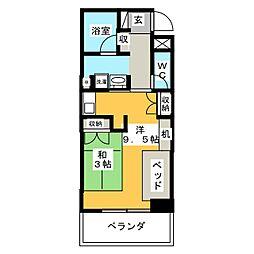 鶴舞ガーデンコート[5階]の間取り