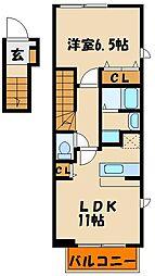 ミニョンIII番館[2階]の間取り