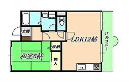 ベラヴィスタ福田[4階]の間取り