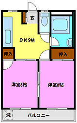 みのるマンション[102号室]の間取り