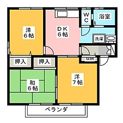 エマーブル B棟[1階]の間取り