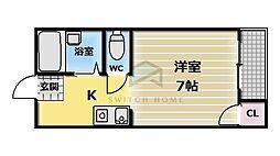 フジレジデンス新深江[1階]の間取り