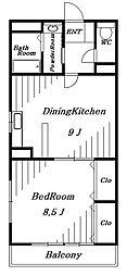 パークハイツ[3階]の間取り