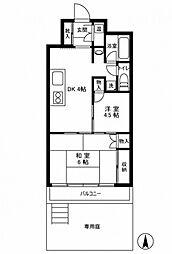 ライオンズマンション五反野[1階]の間取り