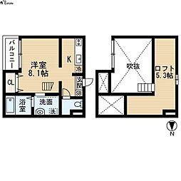 CONFORT大畑 (コンフォールオオハタ)[2階]の間取り