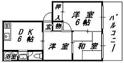 大阪府大阪市東成区大今里西3丁目の賃貸マンションの間取り