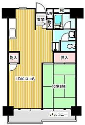 UR南港ひかりの団地[11-306号室]の間取り