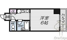 セレッソコート梅田東[4階]の間取り