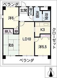 CASAキサラギ[1階]の間取り