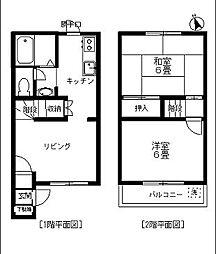 [テラスハウス] 千葉県松戸市常盤平西窪町 の賃貸【/】の間取り