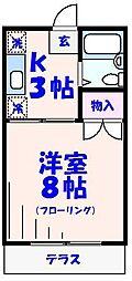 サンコーポ東亜[206号室]の間取り