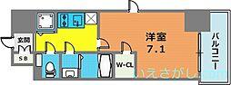 エスリード神戸三宮ラグジェ[12階]の間取り