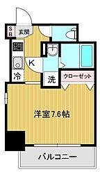 エスリード大阪城アクシス 8階1Kの間取り