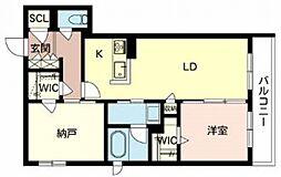 住道矢田1丁目計画 2階1SLDKの間取り