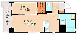 ビリーヴルーム 2階1LDKの間取り