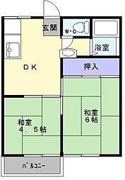 大阪府堺市中区小阪西町の賃貸アパートの間取り