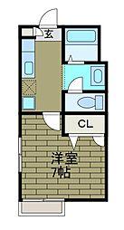 メゾンショコラ[1階]の間取り