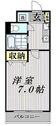 レヴィールシティ西新宿[202号室号室]の間取り
